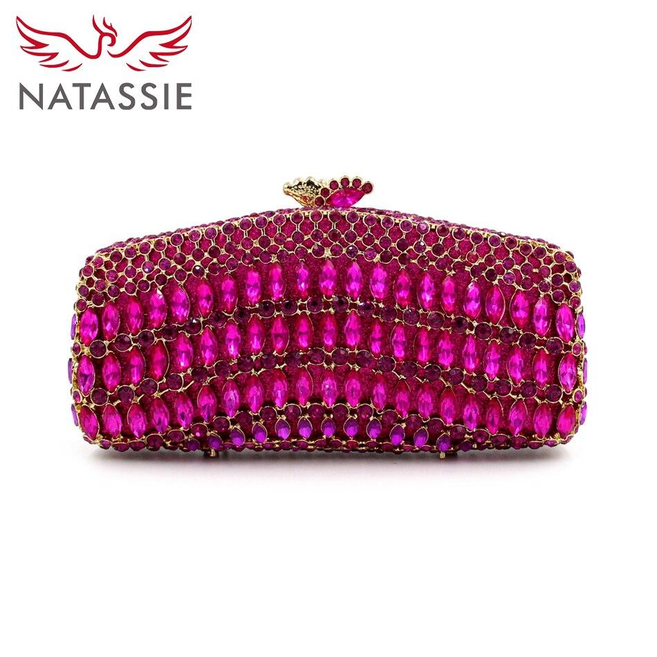 ФОТО NATASSIE Evening Crystal Purses Designer Handbags High Quality 2016 Ladies Clutches Bags
