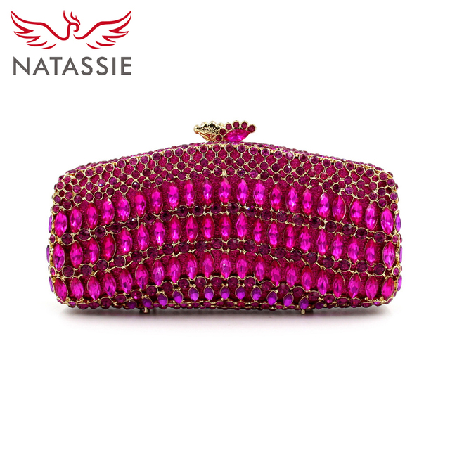 NATASSIE Evening Crystal Purses Designer Handbags High Quality 2016 Ladies Clutches Bags