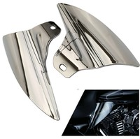Chrome Saddle Shield Heat Deflector For Harley Touring Road Electra Glide 09 15