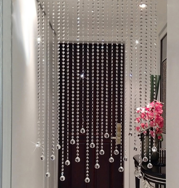 New Pure Handmade Clear Crystal Bead Curtain Home Decoration Windows Porch Partition Door Good Glass