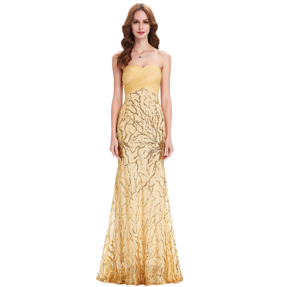 Gold Evening Gown Wedding Dress