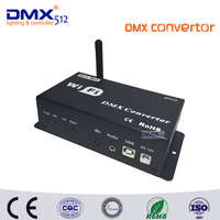 DHL Free shipping WF310 DC12V DMX512 WIFI DMX Controller CONVERTOR Controlled By Android IOS System with USB+art net