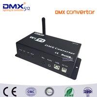 Dhl شحن مجاني WF310 dc12v dmx512 تسيطر بواسطة الروبوت ios نظام wifi dmx تحكم محول مع usb + الفن-صافي