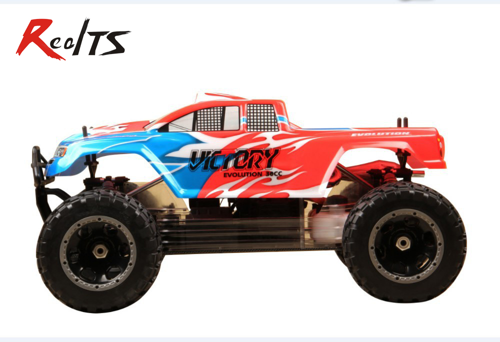 RealTS Free shipping FS Racing 11803 new version 1/5 scale 30cc gas engine 4WD monster truck, 2.4G radio! realts fs racing 136044 diff gear set for 1 5