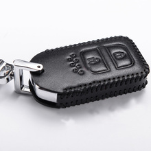 Lsrtw2017 cowl leather car key bag for honda fit 2014 2015 2016 2017 2018 2019