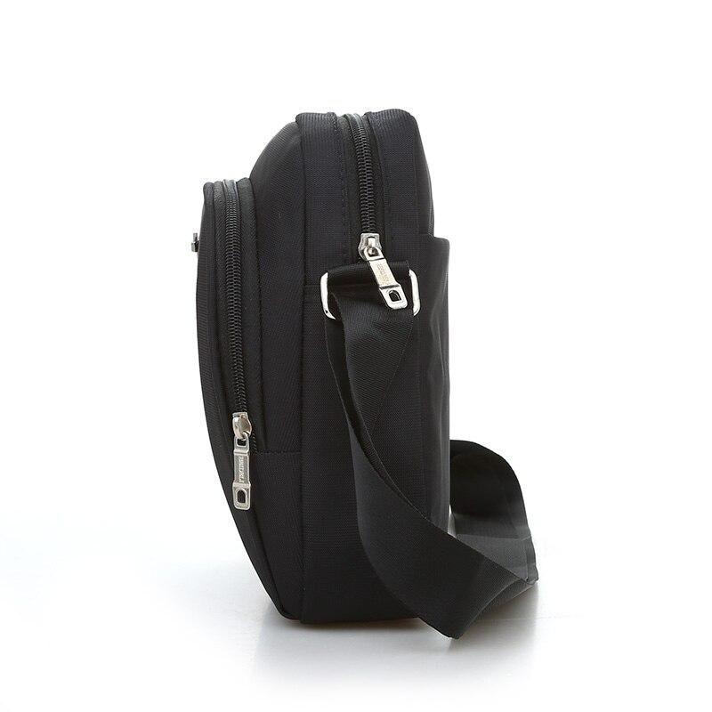 Black Business Messenger Bag Contracted Joker Unisex Crossbody Bag More Zippers Large Capacity Flap Bag Preppy Style Leisure Bag 4