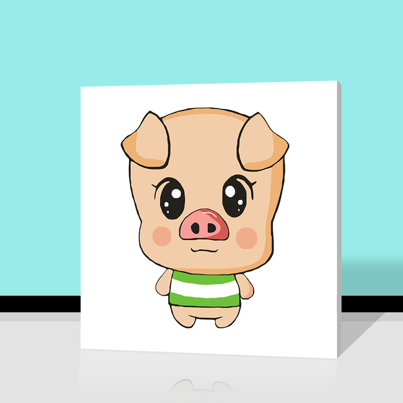 Diy Digital Painting Cute Cartoon Animals Pig Digital Paint By Numbers  Rabbit Modular Painting Dog Home