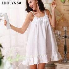 2017 сна Lounge Для женщин пижамы хлопок Ночные сорочки Сексуальные Крытый Костюмы домашнее платье Белый Розовый сорочка ночная рубашка # P2
