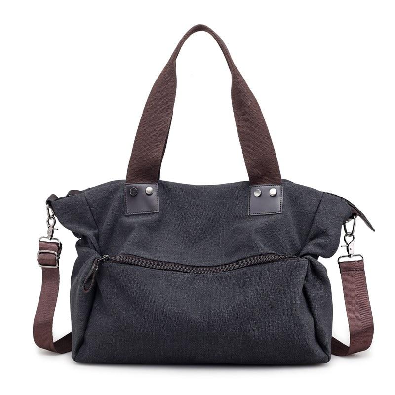 Brand Women's Canvas Handbags High Quality Casual Shoulder Bags Solid Female Crossbody Bag Tote Ladies Messenger Bag