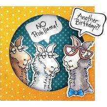 Naifumodo 3 Pcs/lot Metal Cutting Dies Scrapbooking For Card Making DIY Embossing Cuts New Craft Sheep Stamps