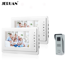 JERUAN 7 pulgadas de video teléfono de la puerta timbre de portero automático intercom sistema 700TVL COMS Cámara envío gratis