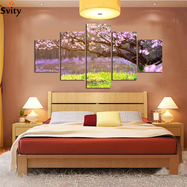 Aliexpress.com : Buy 5 panel home decorative mural art canvas ...