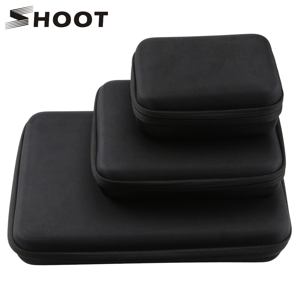 SHOOT Large/Middle/Small Size Collection Case For GoPro Hero 8 7 5 Black Xiaomi Yi 4K Sjcam Sj4000 Eken Box For Go Pro Accessory