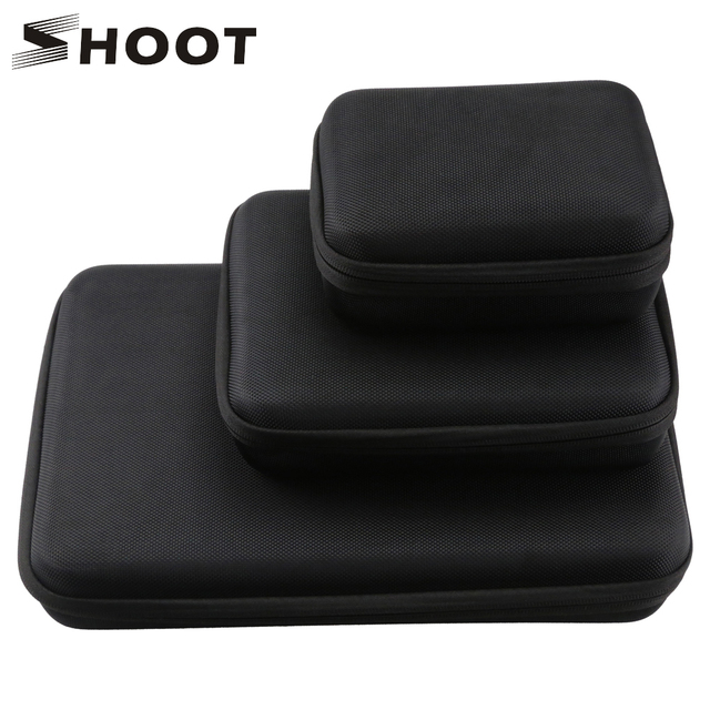 SHOOT duży/średni/mały rozmiar kolekcja Case dla GoPro Hero 9 8 7 czarny Xiaomi Yi 4K Sjcam Sj4000 Eken Box dla Go Pro akcesoria