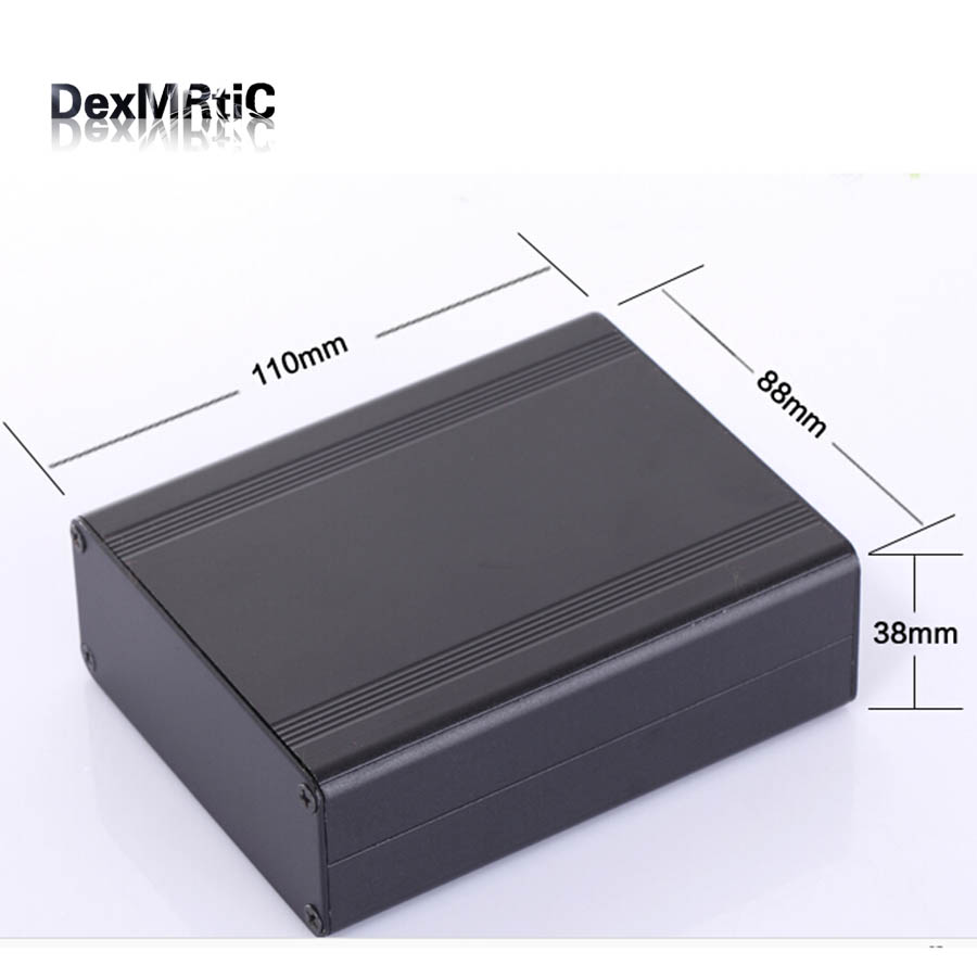 Aluminum enclosure electric project case PCB shell box 88(3.46)X38(1.49)X110(4.33)mm DIY separate type aluminum enclosure for pcb power shell electric project box diy 80 35 100 3 15 x1 38 3 93 wxhxl mm new wholesale