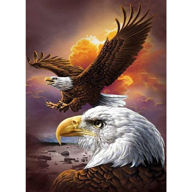 Animals Eagle In The Sky DIY Diamond Painting Wall Sticker Mosaic Cross Stitch Needlework