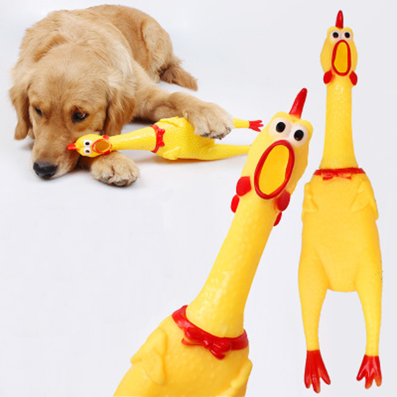 1pc Top Screaming Chicken Squeeze Sound Toy Pets Dog Toys Product Shrilling Decompression Tool Squeak Vent