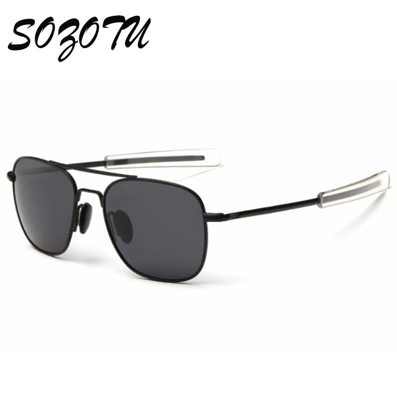 Fashion Pilot Polarized Sunglasses Men Army Military AO Aviation Sunglasses American Optical Sun Glasses For Male Oculos YQ122
