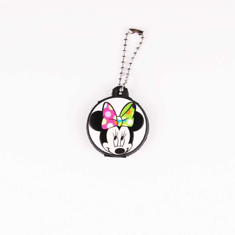 Dos desenhos animados Anime Bonito Tampa Cap Proteja Silicone Minnie Mickey Chave Chaveiro Mulheres Coruja Ponto Urso Olá Kitty Chaveiro Porte clef