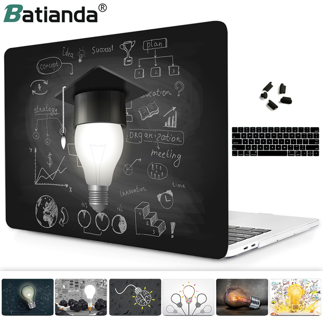 Innovated & Idea Bulb Hard Case for Macbook Pro 13 15 inch 2018 2017 2016 A1706 A1707 Touch Bar & Retina Display Air 11 12 13