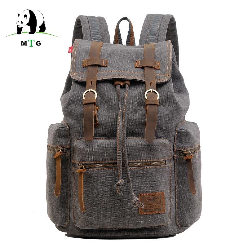 цены на Men Backpack Vintage Canvas Laptop Backpack School Bag Men's Travel Bags Large Capacity Multifunctional Travel Backpack Bag Male