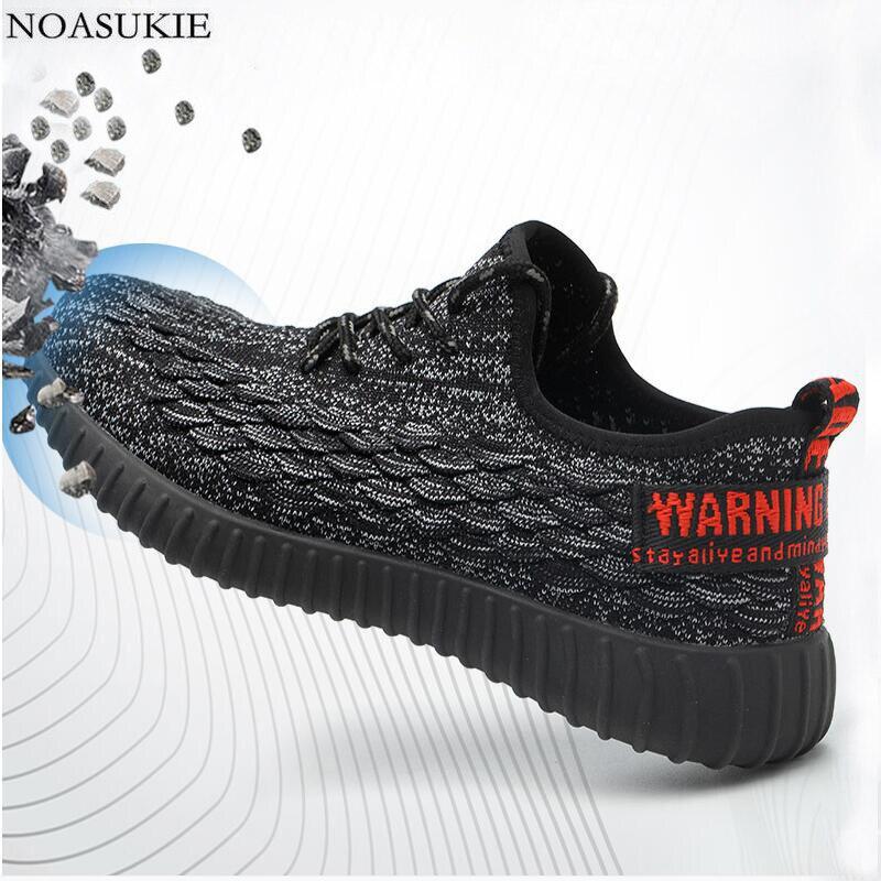 Été Respirant Chaussures de Sécurité En Acier Des Hommes De Mode De Tennis Sneakers Travail Chaussures Anti-Écrasement Ponction Acier Orteil Chaussures 36 -46