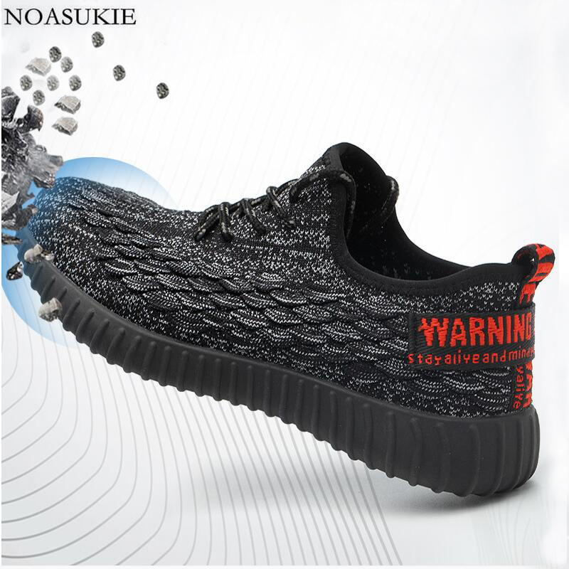 Summer Breathable Tennis Steel Safety Shoes Of Men Fashion Sneakers Work Shoes Anti-Smashing Puncture Steel Toe Shoes 36-46