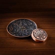 Imitation bronze incense burner Lotus Dragon sculptures joss sticks Incense dish insert  free religious shipping