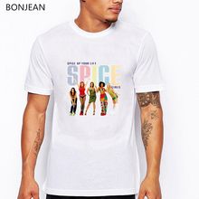 summer 2019 spice girls t shirt men harajuku hip hop tee homme graphic white t-shirt camisetas hombre streetwear