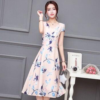 2018 Nowy Lato Wiosna Kobiety sukienka Z Krótkim Rękawem Slim W Długie Suknie Red 8006
