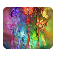 Free Ship 2015 Home Decoration Custom Doormats Bedroom Cushion Dream Catcher Colorful butterfly Carpets Bathroom Rugs #DM 421