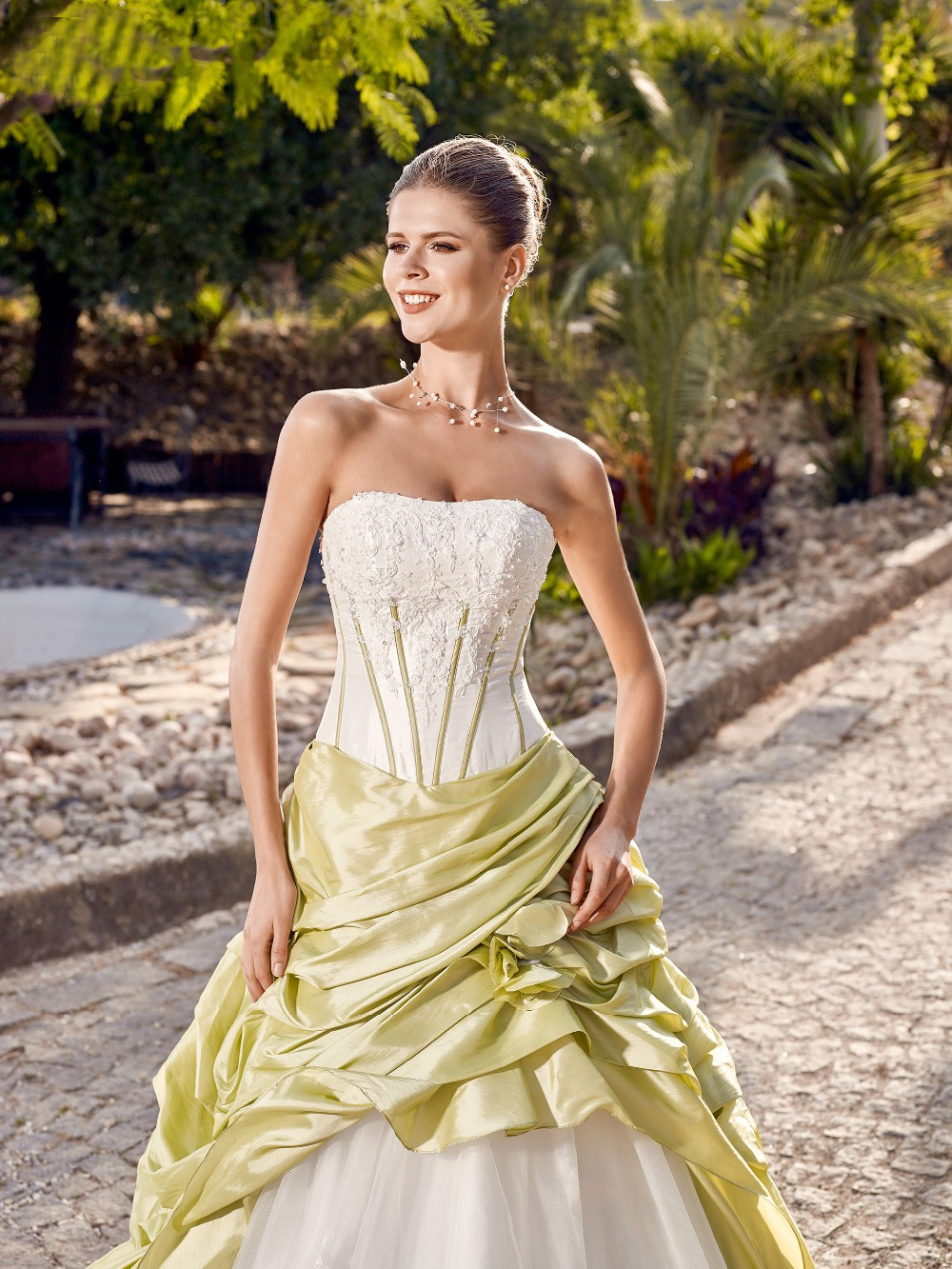 Compare prices on colored wedding dresses cheap online shopping vintage green a line taffeta wedding dresses strapless corset colorful brown bridal gowns non white ombrellifo Images