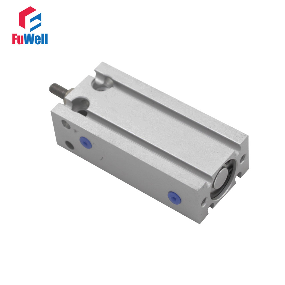 CDU Pneumatic Cylinder Double Acting 20mm Bore CDU20x5/10/15/20/25/30/35/40/45/50mm Stroke Aluminum Alloy Air Cylinder sda type bore 20mm stroke 5 10 15 20 25 30 35 40 45 50mm sda20 double acting compact air pneumatic piston cylinder female
