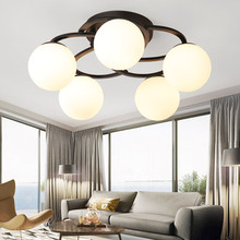 цены Retro ceiling light round LED ceiling lamp modern minimalist living room light dining room kitchen round ceiling lamp bedroom