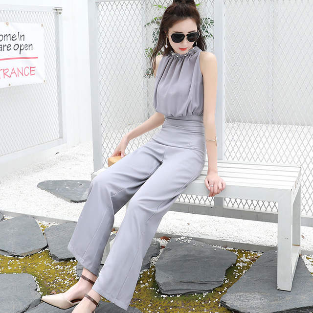 ff0173a7f92 Online Shop MOBTRS Woman Fashion Jumpsuit Designs Luxury Solid Color Jumpsuit  Women Summer Sexy Women Jumpsuit Sleeveless Overal
