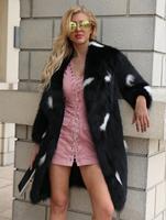 2019 autumn and winter new women's spot real shot European and American fashion fashion faux fur coat shirt women's suit collar