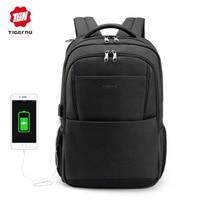 Tigernu Men Backpack Anti Theft USB Charging 15 6 Inh Laptop Backpacks Mochilas Notebook College Schoolbag