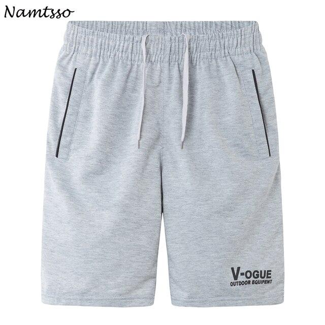Quinta calças ocasionais dos homens de verão plus size solto masculino-secagem rápida calções de praia cor Sólida