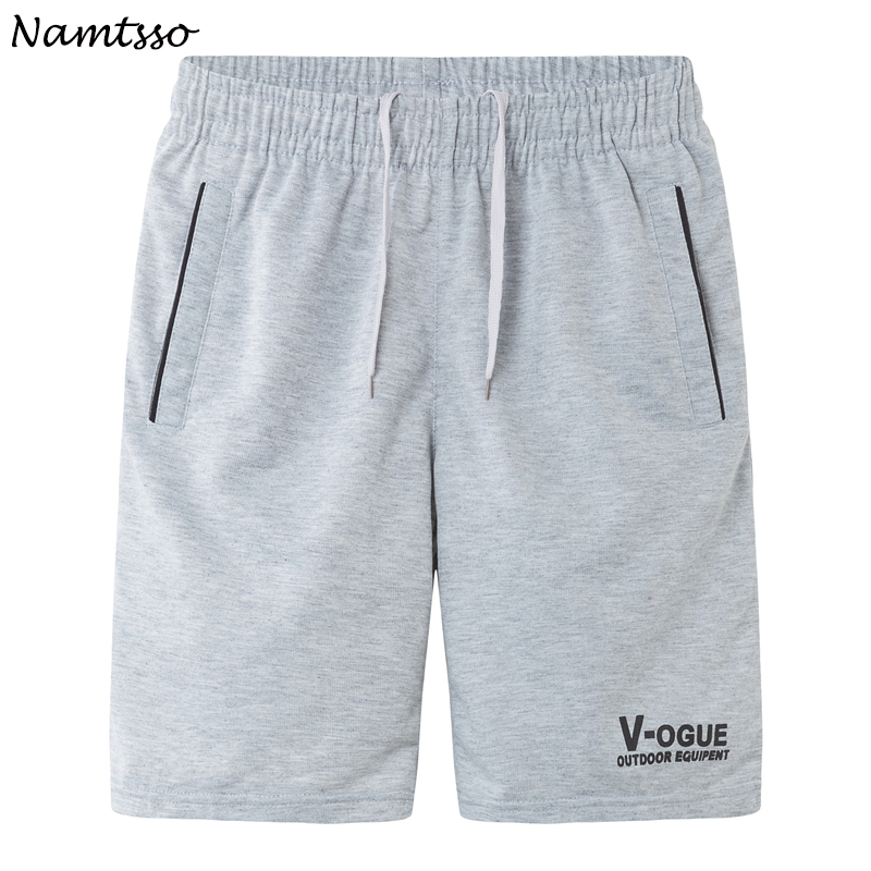 Summer men's casual fifth pants loose plus size male quick-drying Solid color beach   shorts