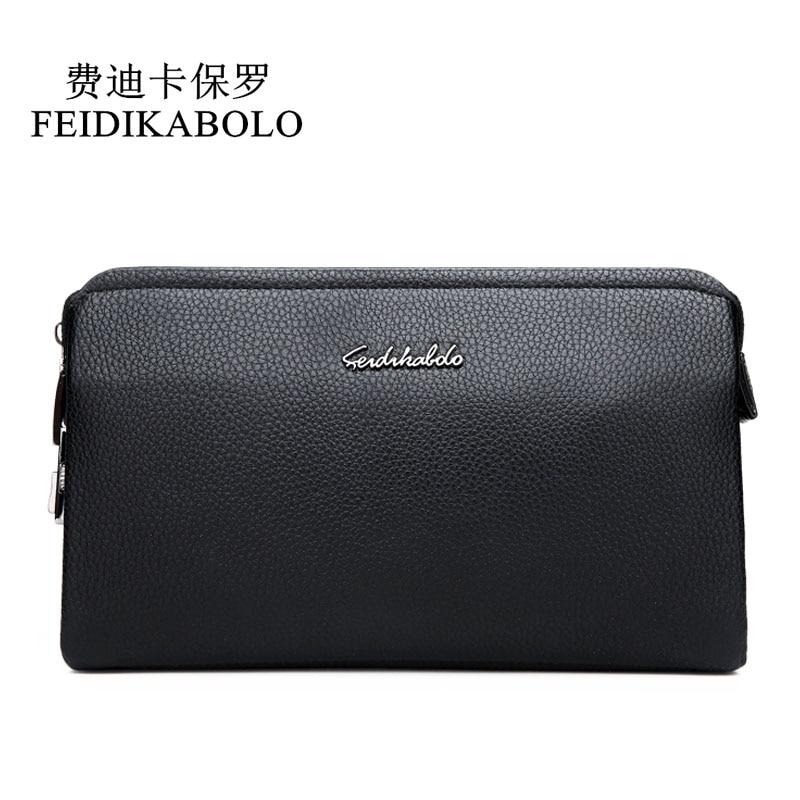 FEIDIKBOLO Top Quality Leather Long Wallet Men Pruse Male Clutch Zipper Wallets Password Lock Security Wallets Men Money Bag Man