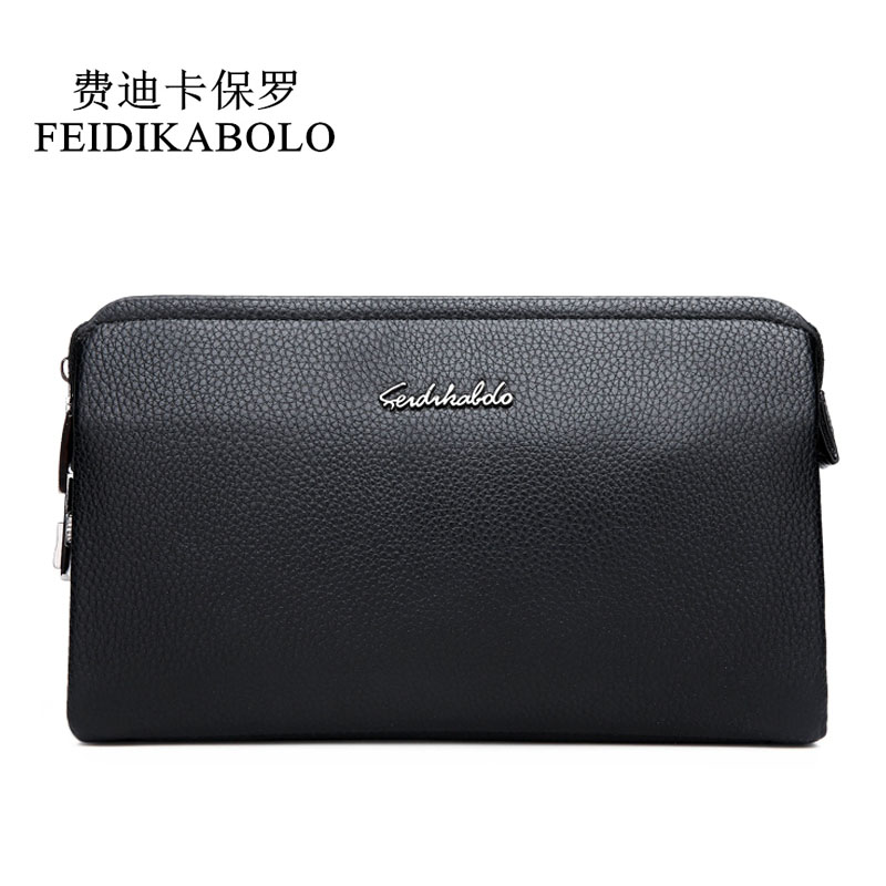 FEIDIKBOLO Top Quality Leather long Wallet Men Pruse Male Clutch Zipper Wallets <font><b>Password</b></font> Lock Security Wallets Men Money bag Man