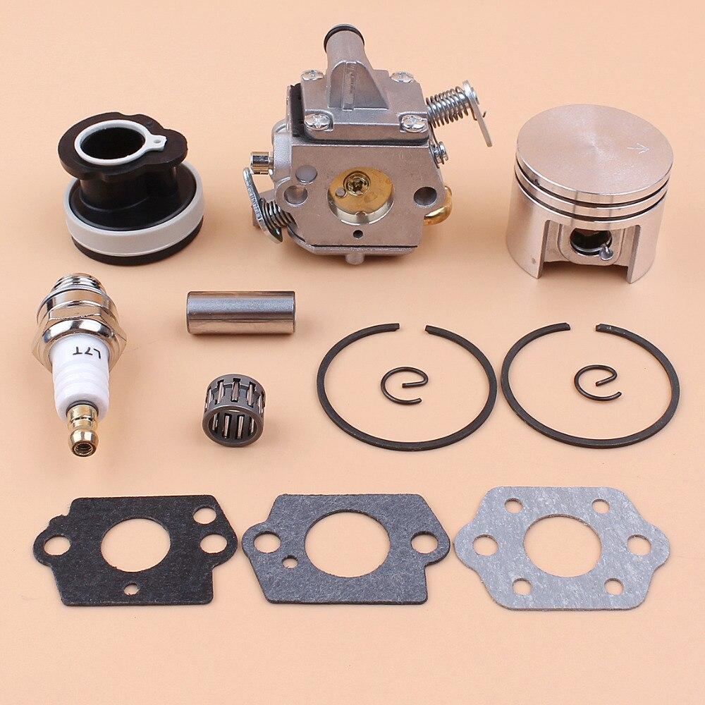 Carburetor Piston Intake Manifold Bearing Gasket Kit For STIHL MS180 018 MS 180 Petrol Chainsaws 11301200603 11300302004