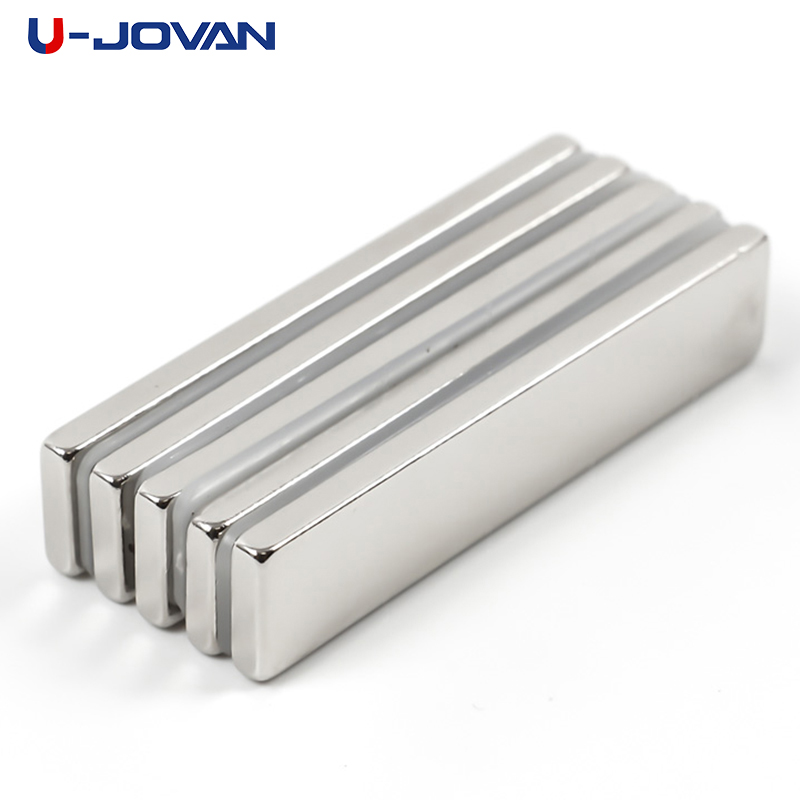 Bright U-jovan 5pcs 50 X 10 X 3 Mm Super Strong Block Powerful Neodymium Magnets 50*10*3 Rare Earth N35 Magnet We Take Customers As Our Gods