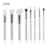 Jessup Pearl White Silver Professional Makeup Brushes Set Make Up Brush Tools Kit Foundation Stippling Natural