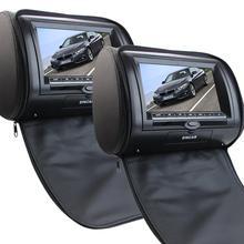 7 Дюймов LCD Dual Экран Портативный Dvd-плеер Черный пара Подголовник Автомобиля Видео-Плеер ЖК-Монитор/ИК-Передатчик остроумие Дистанционного Управления