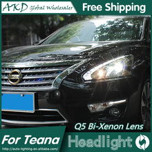 AKD Car Styling for Nissan Teana Headlights 2013-2015 New Altima LED Headlight DRL Bi Xenon Lens High Low Beam Parking Fog Lamp
