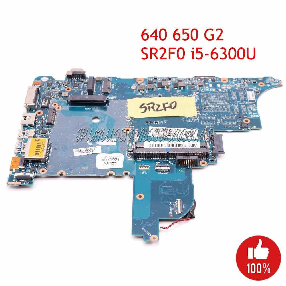 NOKOTION 840717-001 Ordinateur Portable Mothebroard Pour HP Probook 640 650 G2 CIRCUS-6050A2723701-MB-A02 SR2F0 I5-6300U CPU UMA HD CARTE PRINCIPALE