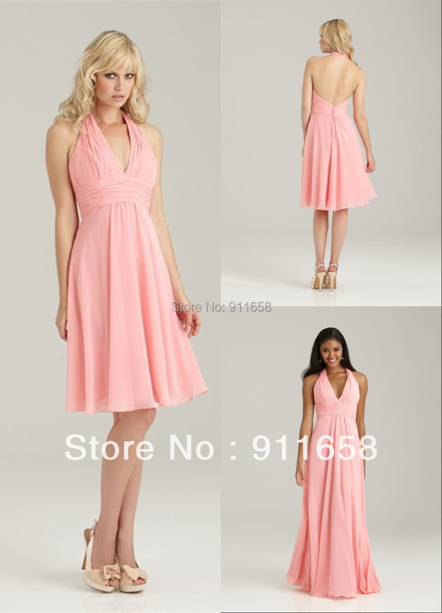 Country style bridesmaid dresses of halter a line chiffon backless country style bridesmaid dresses of halter a line chiffon backless knee length short light pink simple womens dress for wedding in bridesmaid dresses from ombrellifo Gallery