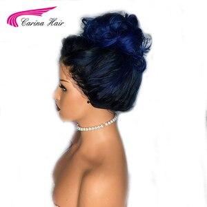 Image 3 - Carina Ile Ombre Brezilyalı Dantel Ön İnsan Saç Peruk Bebek Saç Vücut Dalga Remy Ön Koparıp 13X6 Dantel kadınlar Için ön peruk