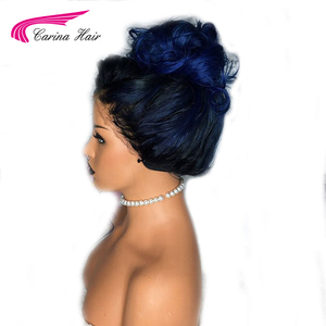 Image 3 - Carina Ombre Brasilianische Spitze Front Menschliches Haar Perücken Mit Baby Haar Körper Welle Remy Vor Gezupft 13X6 Spitze front Perücke Für Frauen